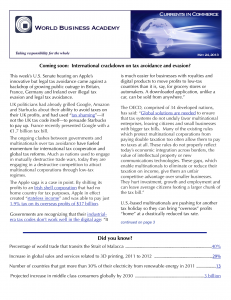 Coverage of emerging trends in Business and Society