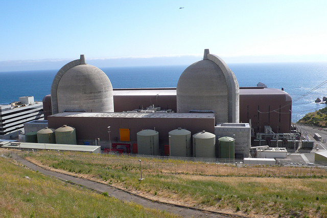 The Diablo Canyon Nuclear Power Plant, located in San Luis Obispo County and owned and operated by PG&E, is the last nuclear power plant in operation in California. (Image: Tracy Adams)
