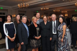 Honoree Marianne Partridge and the Santa Barbara Independent Staff.