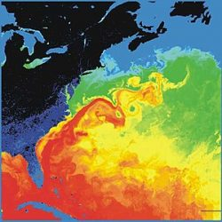 gulf steam ocean currents thermal image