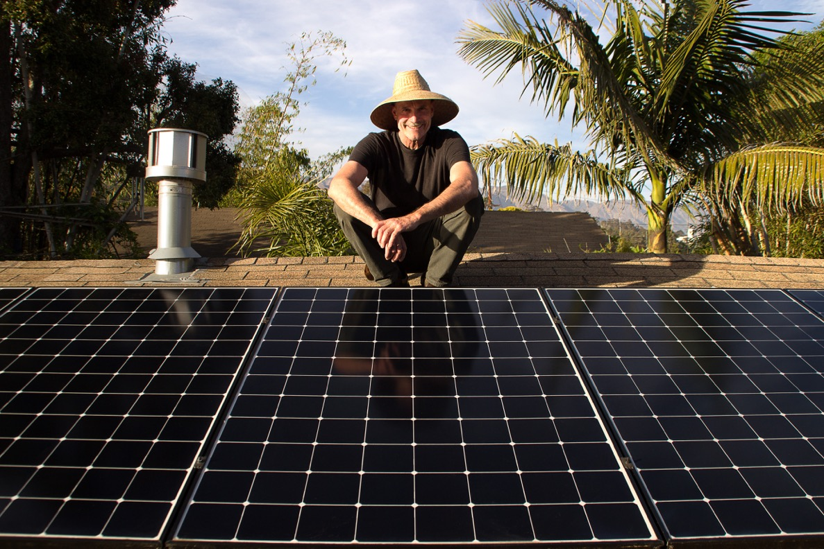 Fred Hunter & his solar panels