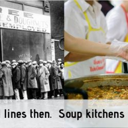 bread lines to soup kitchens?